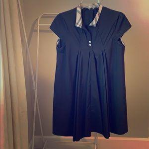 Dresses & Skirts - Black plaid trim dress